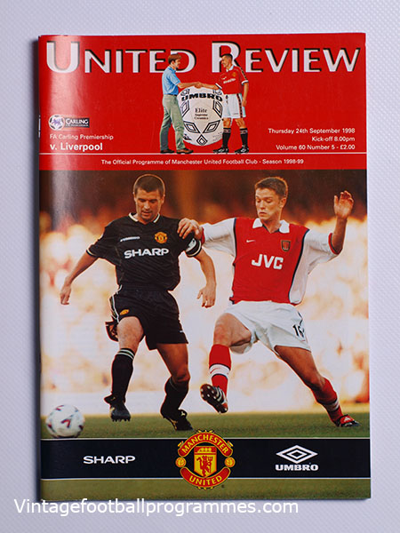 1998-99 Manchester United vs Liverpool 'Treble Season Programme'