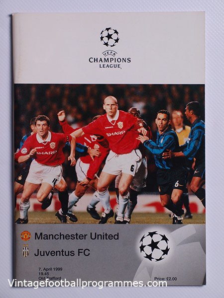 1998-99 UEFA Champions League Manchester United vs Juventus 'Treble Season Programme'