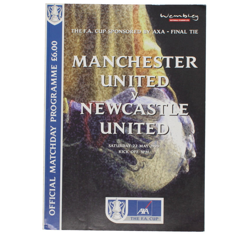 1999 F.A Cup Final Manchester United vs Newcastle United programme