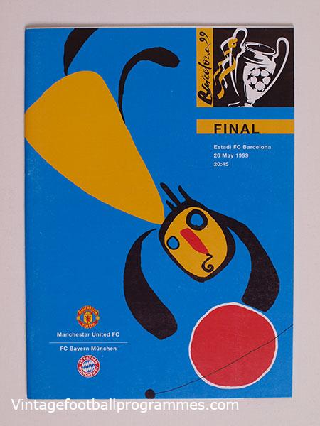 1999 Uefa Champions League Final Programme Manchester United Vs Bayern Munich