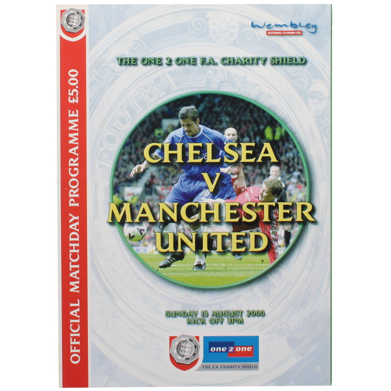 2000 Charity Shield Chelsea vs Manchester United programme football programme