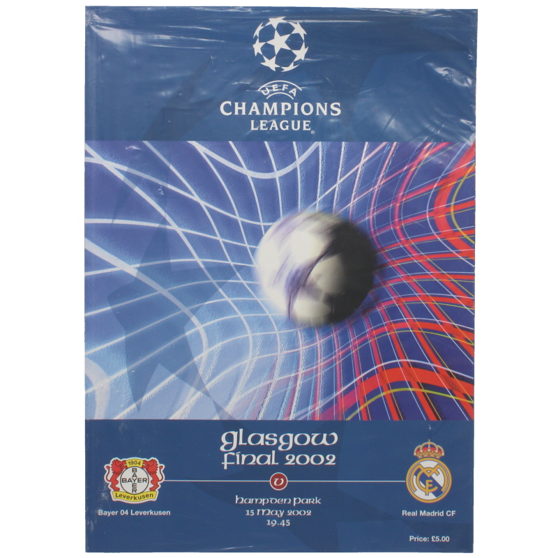 2002 Champions League Final Bayer Leverkusen vs Real madrid sealed in bag