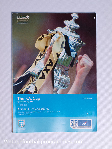 2002 F.A Cup Final 'Arsenal vs Chelsea' Programme