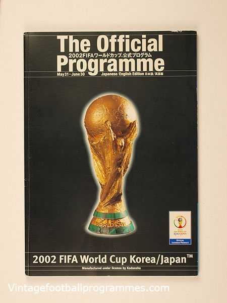 2002 World Cup Japan/Korea Official Tournament Programme