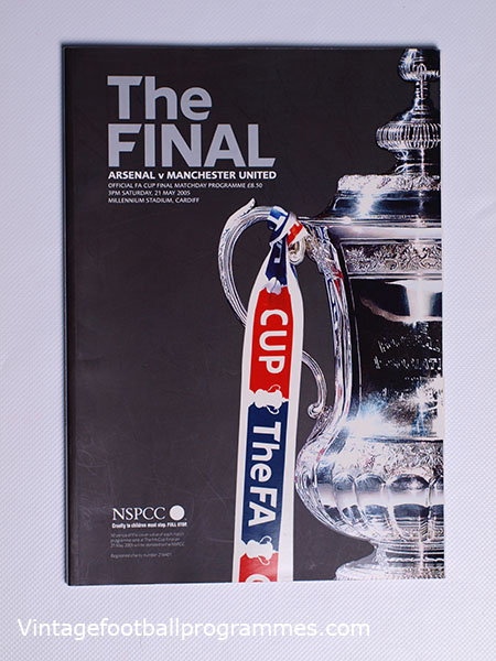 2005 F.A Cup Final 'Arsenal vs Manchester United' Programme football programme