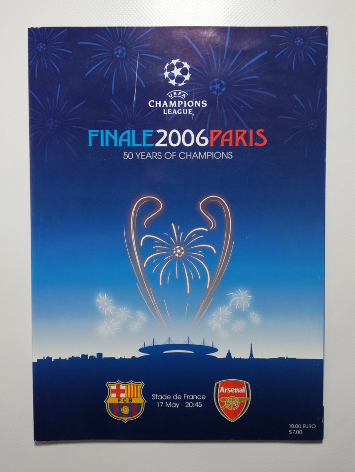 2006 European Cup Final Barcelona vs Arsenal Programme
