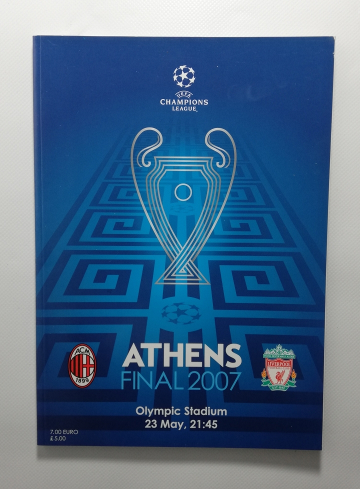 2007 Champions League Final AC Milan vs Liverpool Programme football programme
