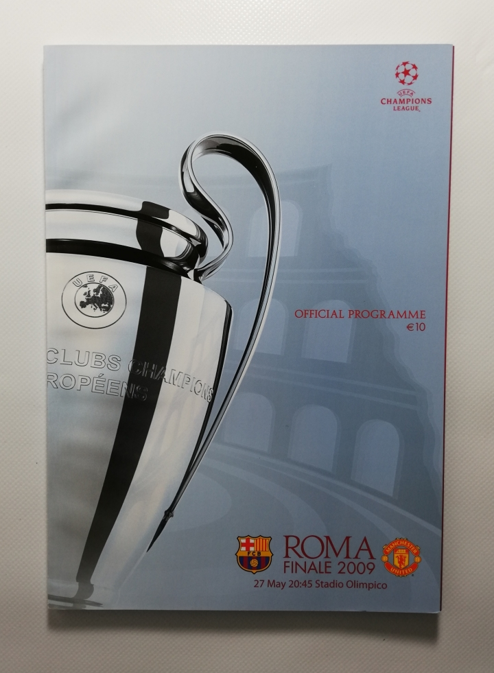 2009 European Cup Final Barcelona vs Manchester United without Barcode football programme