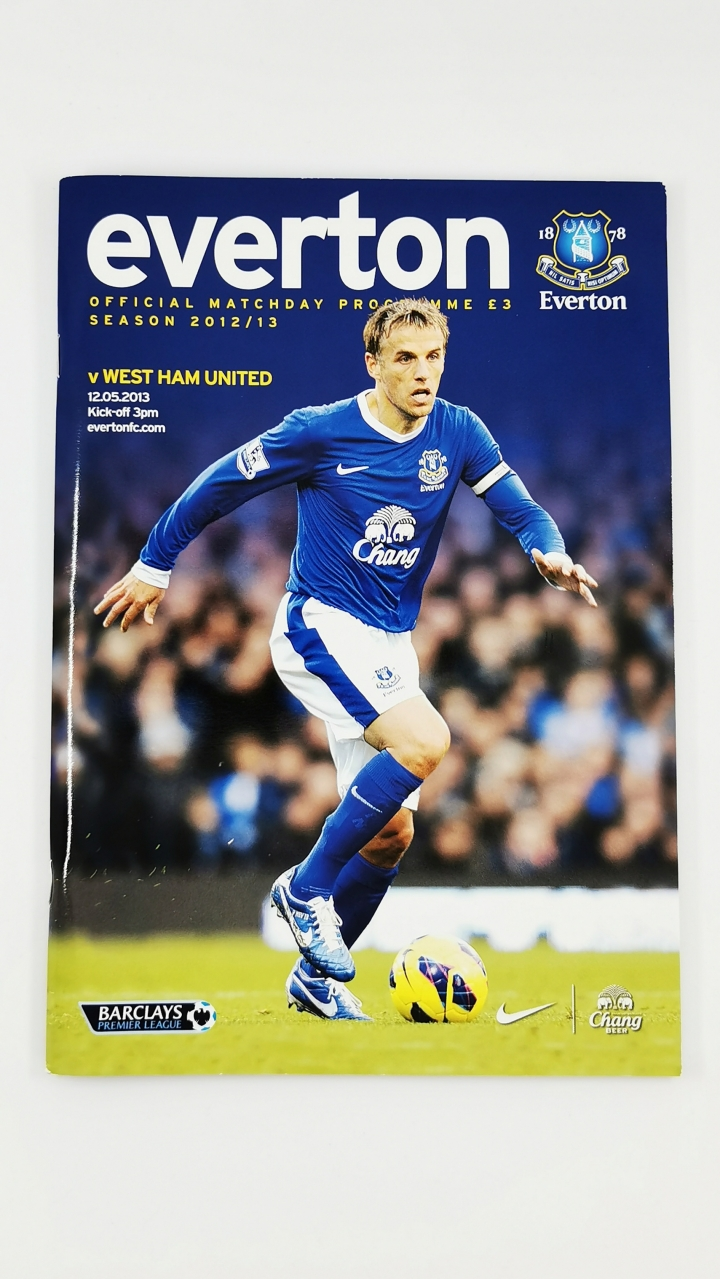 2012-13 Everton vs West Ham programme David Moyes last game