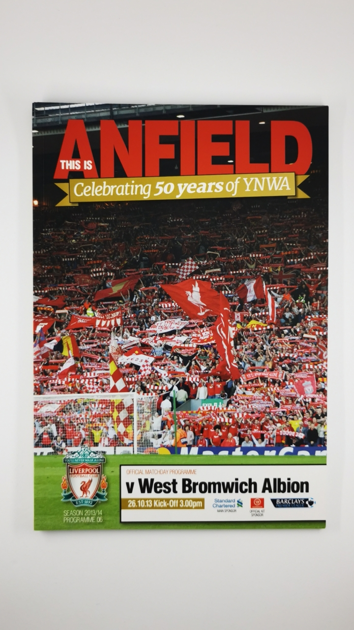 2013-14 Liverpool vs West Bromwich Albion programme