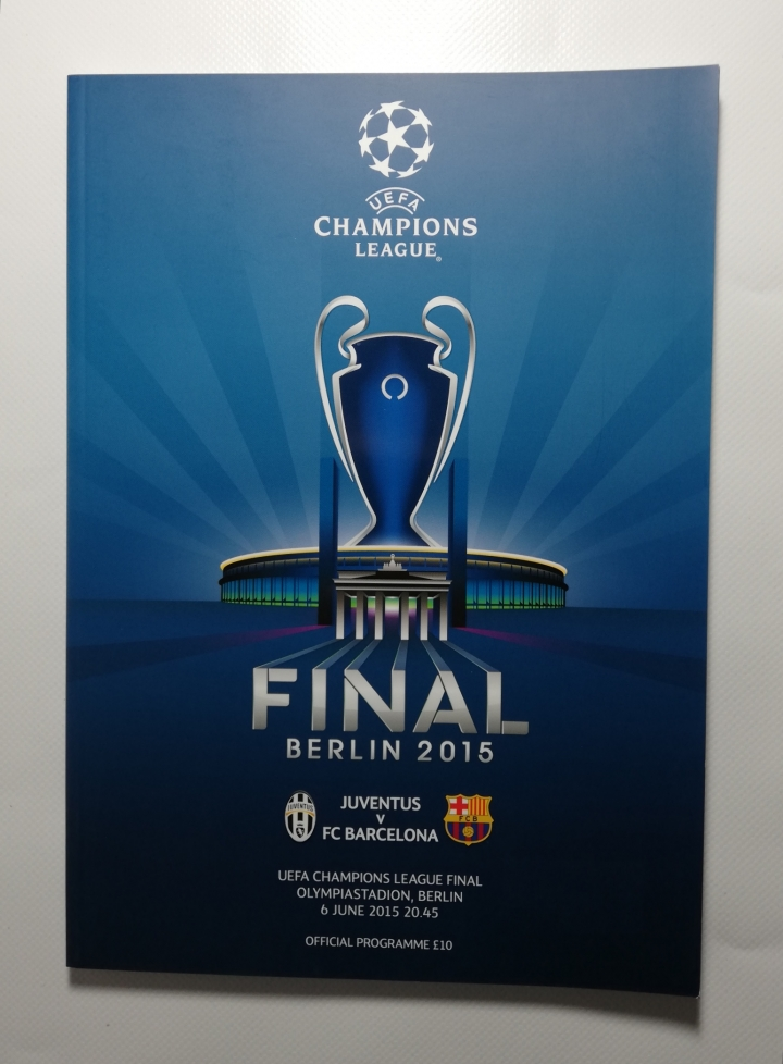 2015 Champions League Final Juventus vs Barcelona football programme