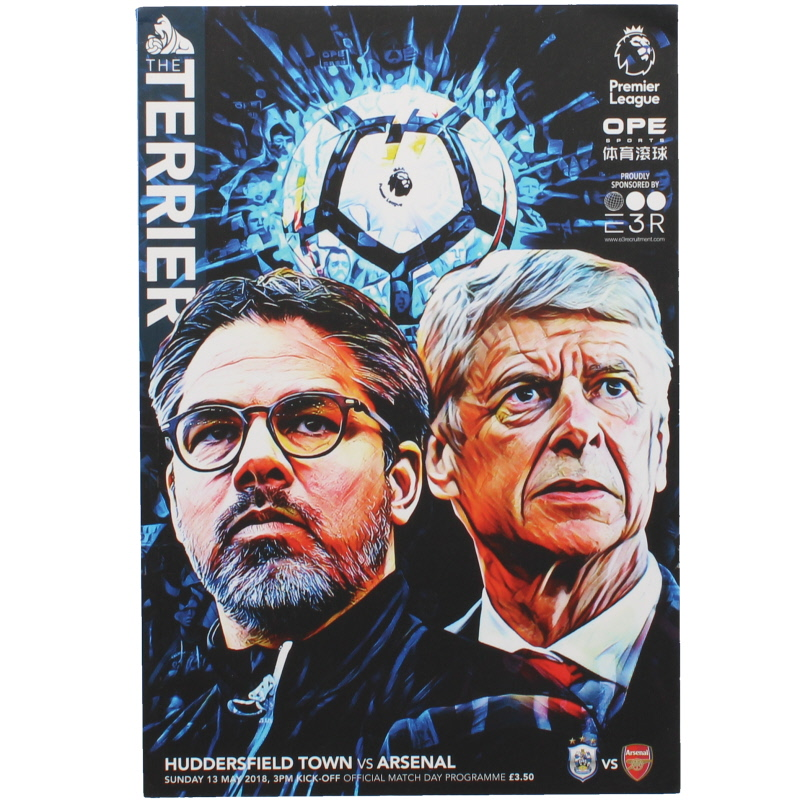 2017-18 Huddersfield vs Arsenal Arsenal Wenger last game football programme