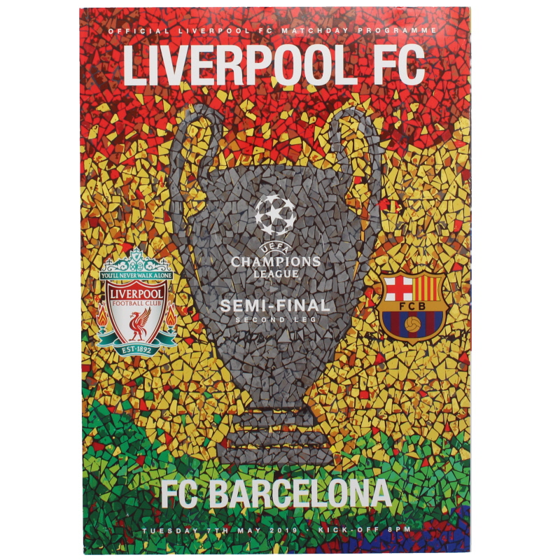 2018-19 Champions League Semi Final 2nd leg Liverpool vs Barcelona programme