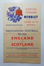 1944-45 England vs Scotland Wartime Friendly
