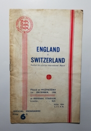 1948-49 England vs Switzerland at Highbury