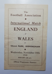1948-49 England vs Wales