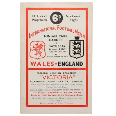 1949-50 Wales vs England programme