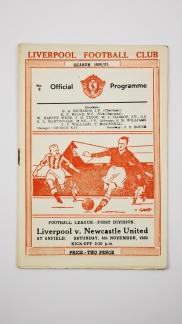 1950-51 Liverpool vs Newcastle United programme