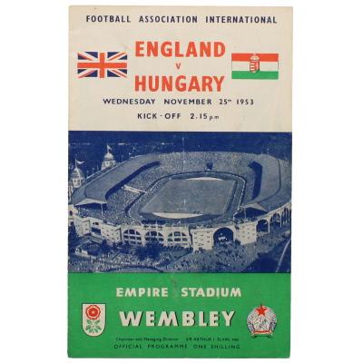 1953-54 England vs Hungary programme
