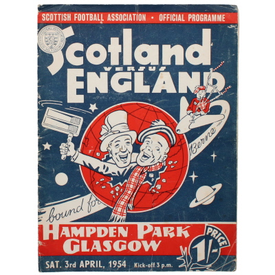 1953-54 Scotland vs England programme