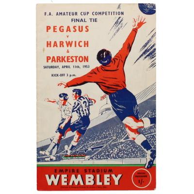 1953 Amateur Cup Final Pegasus vs Harwich & Parkeston programme