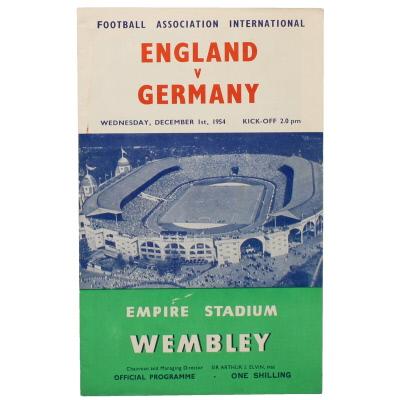 1954-55 England vs Germany programme