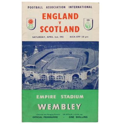 1954-55 England vs Scotland programme