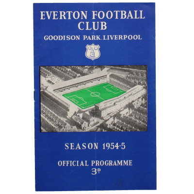 1954-55 Everton vs Liverpool F.A Cup 4th round programme