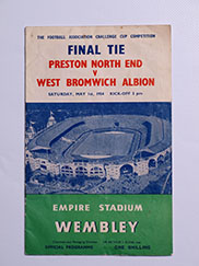 1954 F.A Cup Final 'Preston North End vs West Bromwich Albion' Programme
