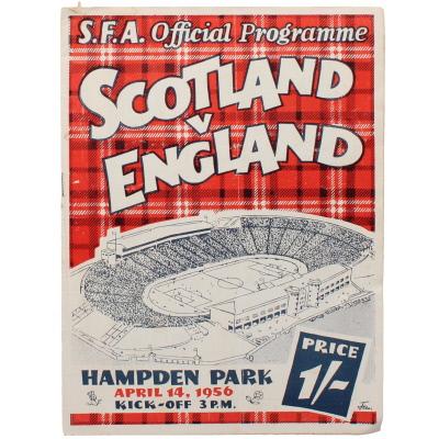 1955-56 Scotland vs England programme
