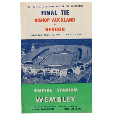 1955 Amateur Cup Final Bishop Auckland vs Hendon programme