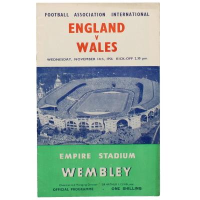 1956-57 England vs Wales programme