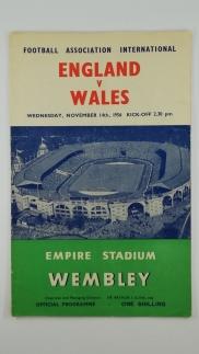 1956 England vs Wales programme