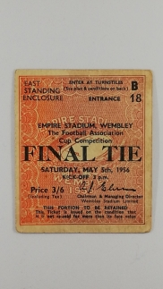 1956 F.A Cup Final Manchester City vs Birmingham City Ticket