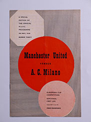 1957-58 European Cup Semi Final 1st Leg 'Manchester United vs A.C Milan' Munich Air Disaster Season