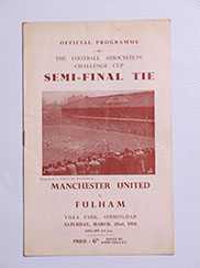 1957-58 FA Cup Semi Final Manchester United vs Fulham 'Munich Air Disaster Season'