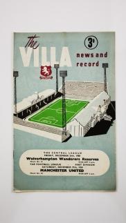1958-59 Aston Villa vs Manchester United programme