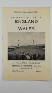 1958 England vs Wales at Villa Park