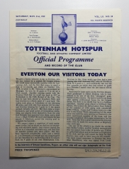 1959-60 Tottenham hotspur vs Everton