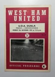 1959-60 West Ham United Vs Dukla Prague
