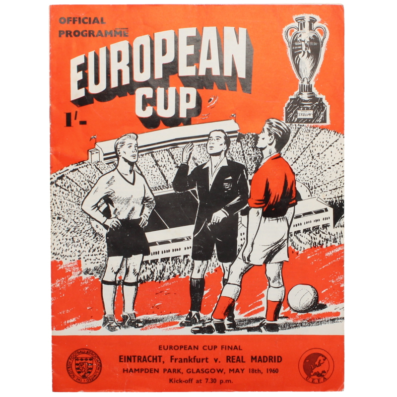 1960 European Cup Final Eintract Frankfurt vs Real Madrid programme