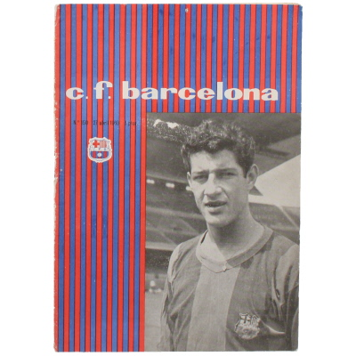 1960 European Cup Semi Final Barcelona vs Real Madrid programme