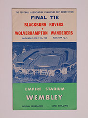 1960 F.A Cup Final 'Blackburn Rovers vs Wolverhampton Wanderers' Programme