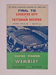 1961 F.A Cup Final 'Leicester City vs Tottenham Hotspur' Programme