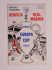 1962 European Cup Final 'Benfica vs Real Madrid' Programme