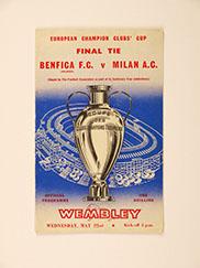 1963 European Cup Final 'Benfiva vs A.C Milan' Programme