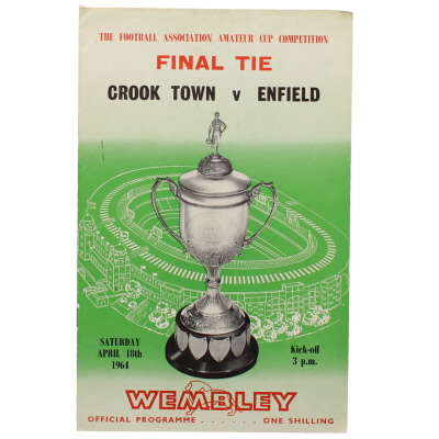 1964 Amateur Cup Final Crook Town vs Enfield programme