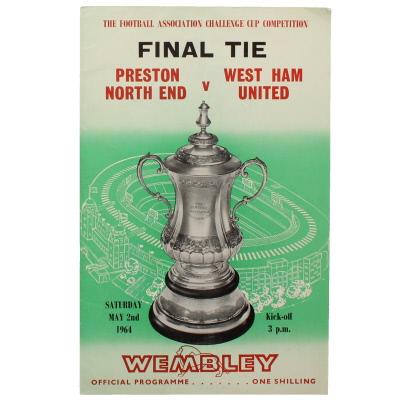 1964 F.A Cup Final 'Preston North End vs West Ham United' Programme