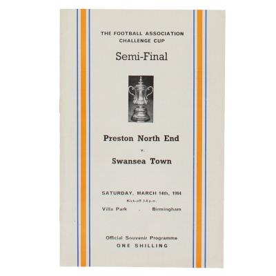 1964 F.A Cup Semi Final Preston North End vs Swansea Town programme