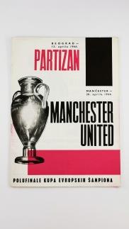 1965-66 Partizan Belgrade vs Manchester United programme